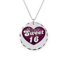 Sweet 16 Zebra Heart Necklace
