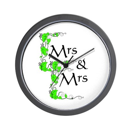 Mrs and Mrs Wall Clock