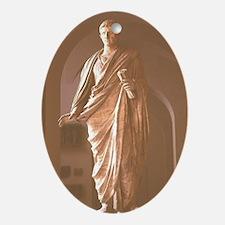 Augustus Statue. Roman Emperor. The  Oval Ornament