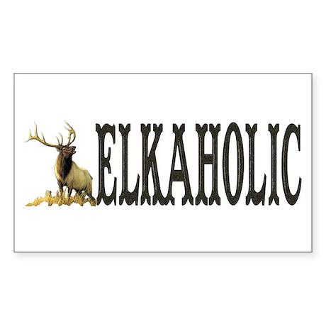 Elkaholic Bumper stickers for Sticker (Rectangular