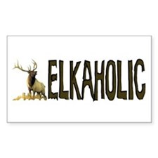 Elkaholic Bumper stickers for Sticker (Rectangular