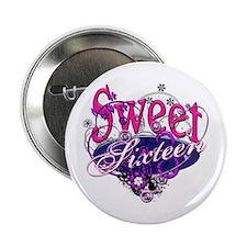 """Sweet 16 Birthday 2.25"""" Button"""