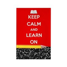 Keep Calm And Learn On Rectangle Magnet Magnets