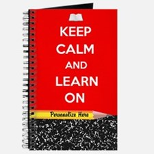 Keep Calm And Learn On Journal