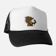 Unique Dragon on castle Trucker Hat