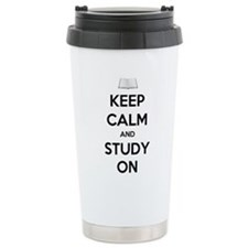 Keep Calm and Study On Travel Mug