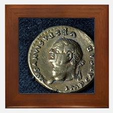 Roman coin of vespasian. 69-79 AD ITAL Framed Tile