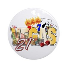 Vegas 21st Birthday Ornament (Round)