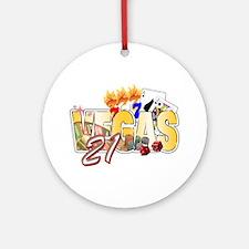 Vegas 21st Birthday Ornament (Round)