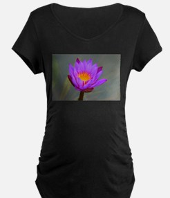 Purple Lotus Flower Maternity T-Shirt