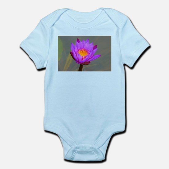 Purple Lotus Flower Body Suit