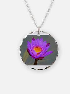 Unique Purple om yoga Necklace