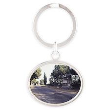 Via Appia Antica, Appian way, Rome. Oval Keychain