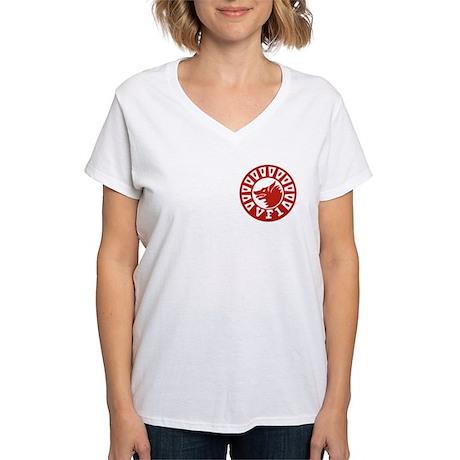 F-14 Tomcat VF-1 Wolfpack Women's V-Neck T-Shirt