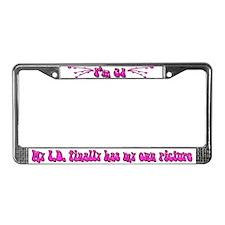 21st Birthday Pink License Plate Frame