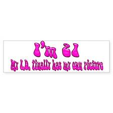 21st Birthday Pink Bumper Bumper Sticker