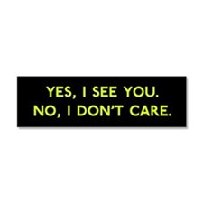 Cute Snarky Car Magnet 10 x 3