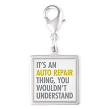 Its An Auto Repair Thing Silver Square Charm