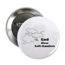 God Bless Left-handers Button