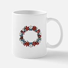 Poinsetta Wreath Mugs