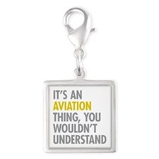 Its An Aviation Thing Silver Square Charm