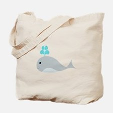 Cute Gray Baby Whale Tote Bag