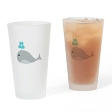 Cute Gray Baby Whale Drinking Glass
