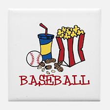 Baseball Treats Tile Coaster