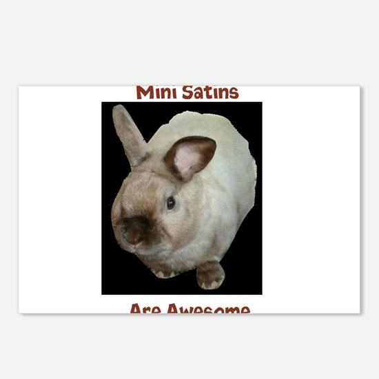 Mini satins are awesome Postcards (Package of 8)