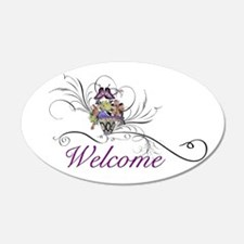 Welcome basket Wall Decal