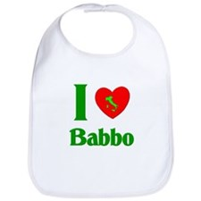 I (Heart) Love Babbo Bib
