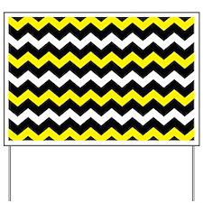 Black Yellow And White Chevron Yard Sign