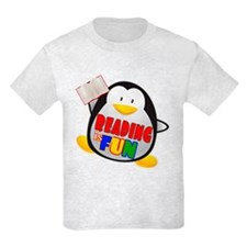 Reading is Fun Penguin T-Shirt