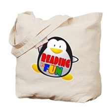Reading is Fun Penguin Tote Bag