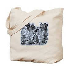 Day of the Dead Graphic with Ghouls Tote Bag