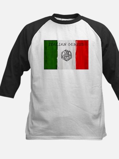 Italian Genius Flag Kids Baseball Jersey