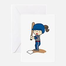 Girl Batter Greeting Cards