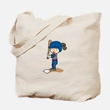 Girl Batter Tote Bag