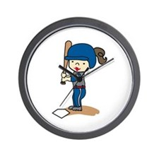 Girl Batter Wall Clock