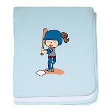 Girl Batter baby blanket