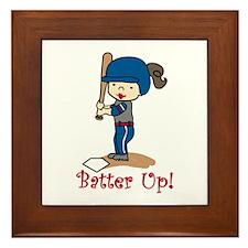 Batter Up! Framed Tile
