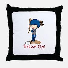 Batter Up! Throw Pillow
