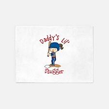 Daddys Lil Slugger 5'x7'Area Rug