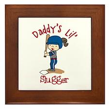 Daddys Lil Slugger Framed Tile