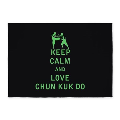 Keep Calm and Love Chun Kuk Do 5'x7'Area Rug