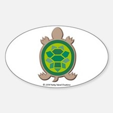 Mosaic Turtle Oval Decal