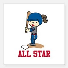 """All Star Square Car Magnet 3"""" x 3"""""""