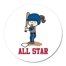 All Star Round Car Magnet