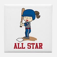 All Star Tile Coaster