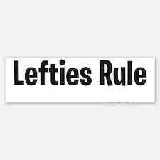 Lefties Rule Bumper Bumper Bumper Sticker